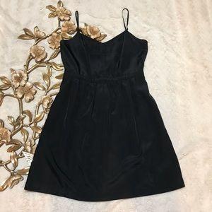 J. Crew Black Spaghetti Strap Black Dress Size 6